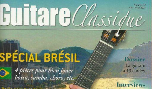 La «Tarentelle» chroniquée dans le n°77 de Guitare Classique.