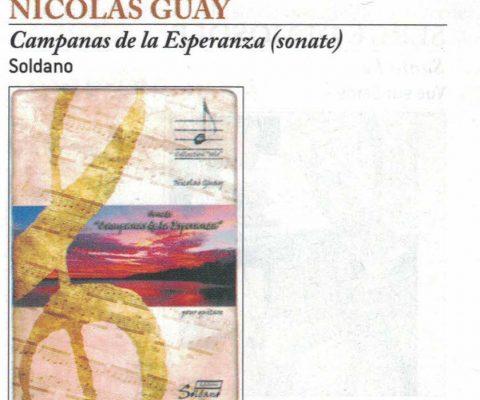 Chronique de la partition Campanas de la Esperanza dans Guitare Classique Magazine (n°80)